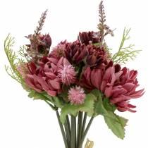 Chrysanthemum buket blandes lilla 35 cm