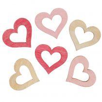 Spredende hjerterosa, lyserøde, naturlige 2 cm 144stk