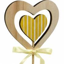 Dekorativ prop sommerfuglblomst og hjerte, forårsdekoration, blomsterknap, Valentinsdag 9stk