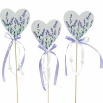 Lavendel hjerte, sommer dekoration, hjerte at holde med lavendel, Middelhavet hjerte dekoration 6stk