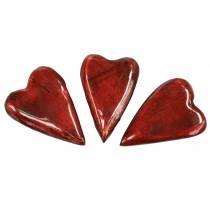 Mangotræs hjerter glaseret rød 6,2–6,6 cm × 4,2–4,7 cm 16 stk
