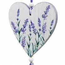 Hjerte med lavendelmotiv at hænge, bryllup, middelhavssommer dekoration, Valentinsdag, lavendel hjerte 4stk