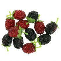 Hindbærblanding rød / sort 4cm x 2cm 36stk