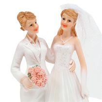 Bryllupsfigur kvindeligt par 17cm