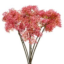 Ældreblomst gren lyserød 54,5 cm 4stk