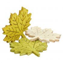 Maple blade for at sprede efterårsfarver assorterede 4 cm 72stk