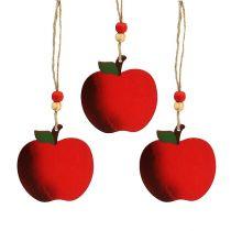 Trææble til at hænge 7 cm rød 24stk