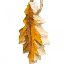 Dekorative blade træ at hænge Farverige efterårsdekorationer 6,5 × 4 cm 12 stk