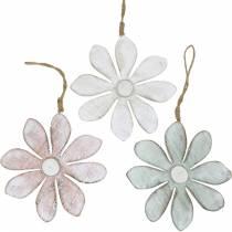 Træblomster at hænge, sommer, blomster i pastelfarver, forårsdekoration Ø16cm 3stk