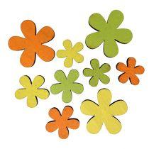 Træblomst 2-3,5 cm orange, grøn, gul 36stk