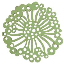 Træblomst grøn / hvid 5cm 36p