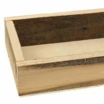 Naturlig træbakke 37,5 cm x 14,5 cm H6,3 cm