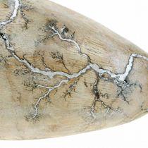 Påskeæg mangotræ natur hvidvasket påskedekoration træ H16cm
