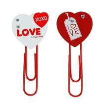 """Træklip hjerte """"Love"""" dekorativt hjerte Valentinsdag gave 2stk"""