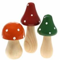 Dekorativ fluesvamp sæt orange, grøn, rød 10/12 / 14.8cm