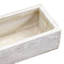 Træskål til plantning af hvid 30cm x 9cm x 6cm