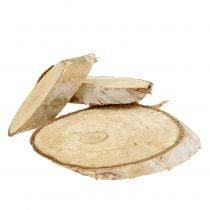 Træskiver birk ovale 5cm - 20cm 500g