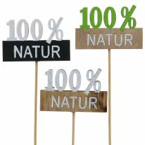 Dekorativ stik 100% naturlig H28.5cm 12stk