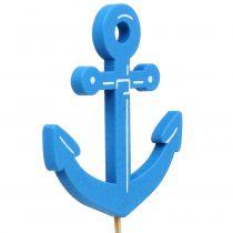 Træstik maritim blå 9stk
