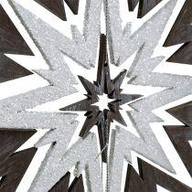 Trestjerne til hængende grå, hvid 48 cm x 40 cm