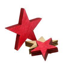 Trestjerner 3-5 cm naturlige / røde 24stk