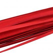 Tristrimler flettet bånd rød 95 cm - 100 cm 50p