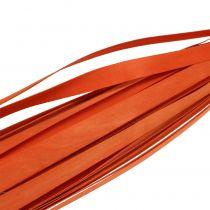 Trælister til fletning af orange 95 cm - 100 cm 50p