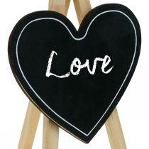 Træbræt, bryllupsdekoration, kridttavlehjerte, dekoration Valentinsdag, dekorationsbræt 6stk