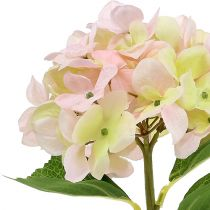 Hortensia kunstig lyserosa 36 cm