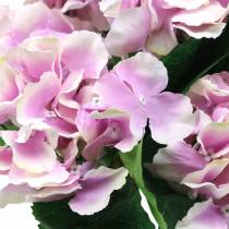 Silkeblomster hortensia i en pot lilla 35cm