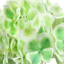 Hortensia kunstig grøn, hvid 68cm