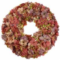 Hortensia krans gammel lyserød Ø44cm
