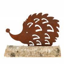 Pindsvin patina på træbunden 14,5 cm x 17,5 cm