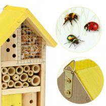 Insekt hotel gul træ insekt hus have reden kasse H26cm