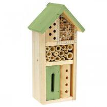 Insekt hotel grønt træ redningshjælp haven insekt hus H26cm