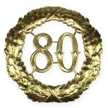 Jubilæum nummer 80 i guld Ø40cm