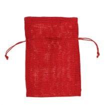 Jute poser rød 16cm x 24cm 10stk