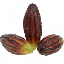 Kunstigt blandede kakaobælge assorteret lilla, rød-orange 18 cm sæt med 2