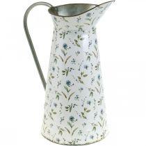 Dekorativ kande metal vintage blomstervase have dekoration planter H33cm
