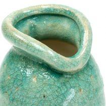 Keramisk vase antik blå H21cm