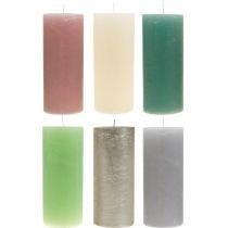 Søjlelys farvet gennem forskellige farver 85 × 200mm 2stk