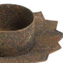 Lysestage til klistring Ø9cm L8,5cm brun