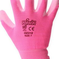 Kixx havehandsker str. 7 lyserød, lyserød
