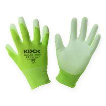 Kixx nylon havearbejdshandsker størrelse 8 lysegrøn, lime