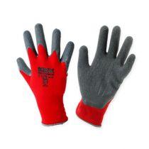 Kixx nylon havearbejdshandsker størrelse 8 rød, grå