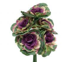 Kunstig kål lilla, grøn 25cm 6stk