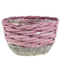 Rund kurvsæt på 3 Ø14cm - 24cm lyserødt, naturligt