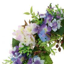 Krans hortensia / bær lilla Ø30cm