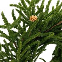 Kunstig cypress krans med kegler Dekorativ krans cypress Ø55cm