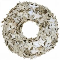 Deco krans stjerner birk bark bordpynt advent birk Ø25cm